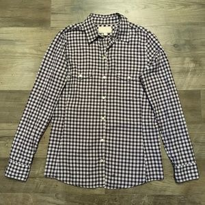 Banana Republic Shirt Sz L Tall Soft Wash Plaid